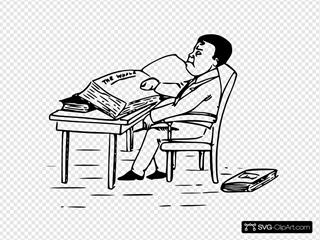 Man Reading Books