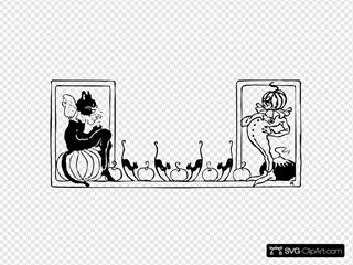 Black Cat Pumpkin SVG Clipart