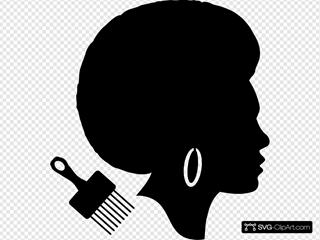 African American Afro Woman