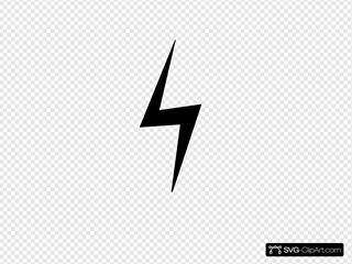 Straight Down Black Lightning Bolt