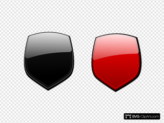 Black Red Glossy Shields