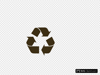 Black Recycle Symbol