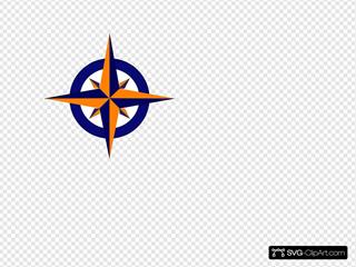 Compass Blue And Orange Compass