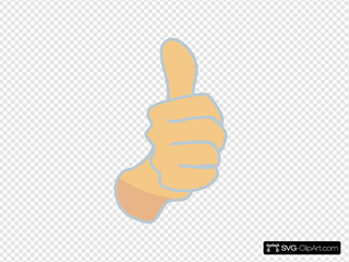 Thumbs Up, Modified Original With Blue Borders