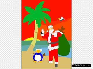 Beached Santa