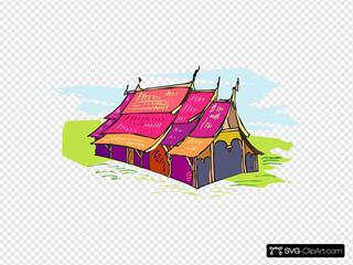Multi Colored Tent