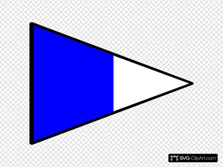 Blue And White Signal Flag SVG Clipart