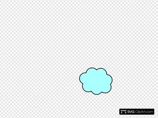Small Light Blue Cloud