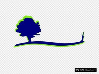 Tree Swoosh Blue Green