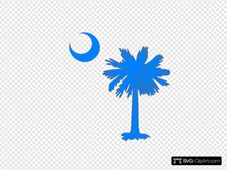 Carolina Blue Palmetto Tree