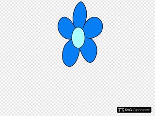 Blue Flower No Stem