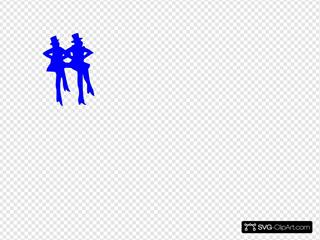 Tap Dancers Blue