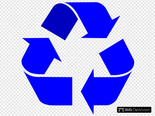 Blue Recycle Arrows