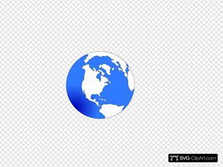 Globe White And Blue
