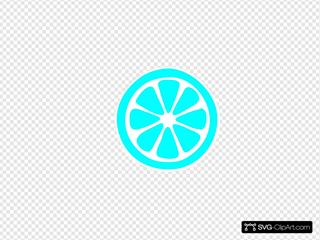 Lemon Slice  ( Blue )