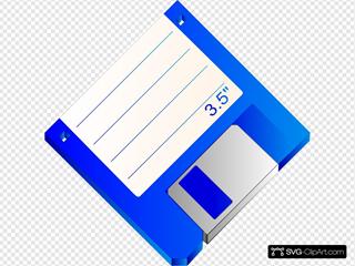 Sabathius Floppy Disk Blue Labelled