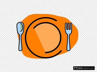 Plate, Fork, Spoon-no Text