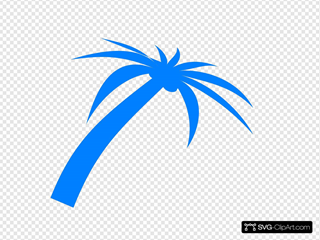 Blue Palm Tree SVG Clipart