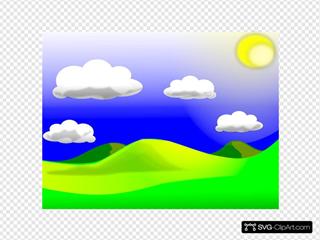 Landscape 1 SVG Clipart