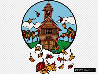 School In Fall