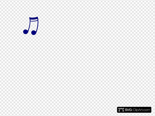 Blue Music Note