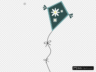 Kite With Flowers