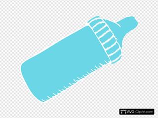 Baby Bottle Tiffany Blue