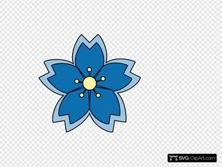 Blue Sakura Blossom