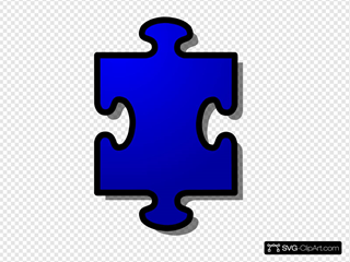 Jigsaw Blue Puzzle Piece