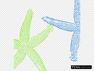 Blue Green Starfish