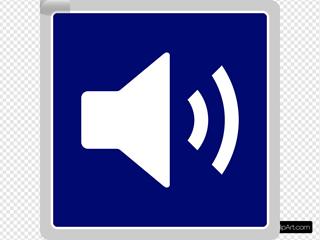 Blue Audio Icon