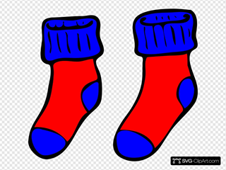 Blue And Red Socks