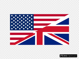 American And Union Jack Flag