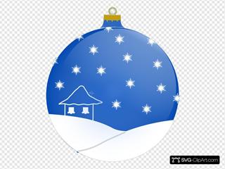 Blue Winter Ornament Ball
