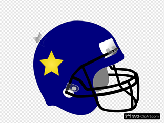 Football Helmet-star On It Clipart