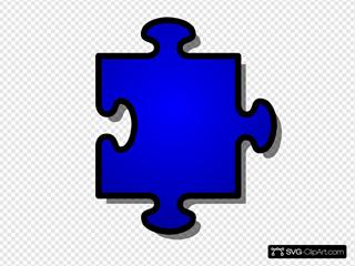 Blue Jigsaw Piece