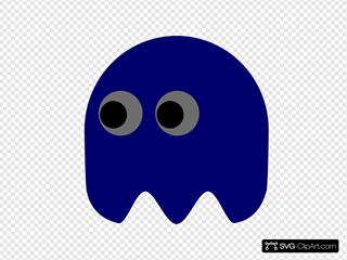 Pacman Ghost Left Looking