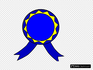 Blue And Yellow Medal