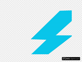 Blue Lightning Bolt