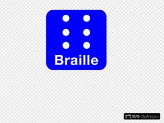Braille Blue Clip Art