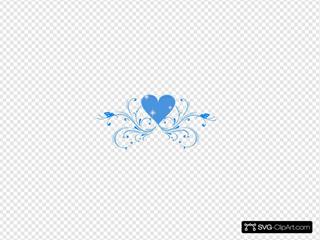 Blue Butterfly Scroll