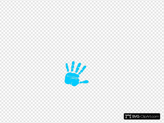 Blue Hand Print SVG Cliparts