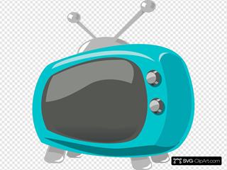 Blue Retro Television
