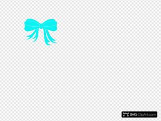 Turquoise Bow Ribbon