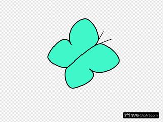 Green/blue Butterfly 2