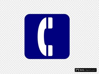 Telephone Symbol Blue