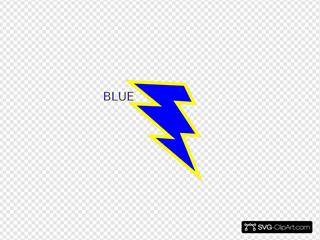 Blue And Gold Lightning Bolt