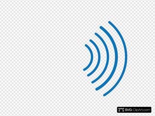Radio Waves Blue