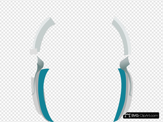 Blue Headphones SVG Clipart