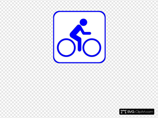 Biking Icon Blue